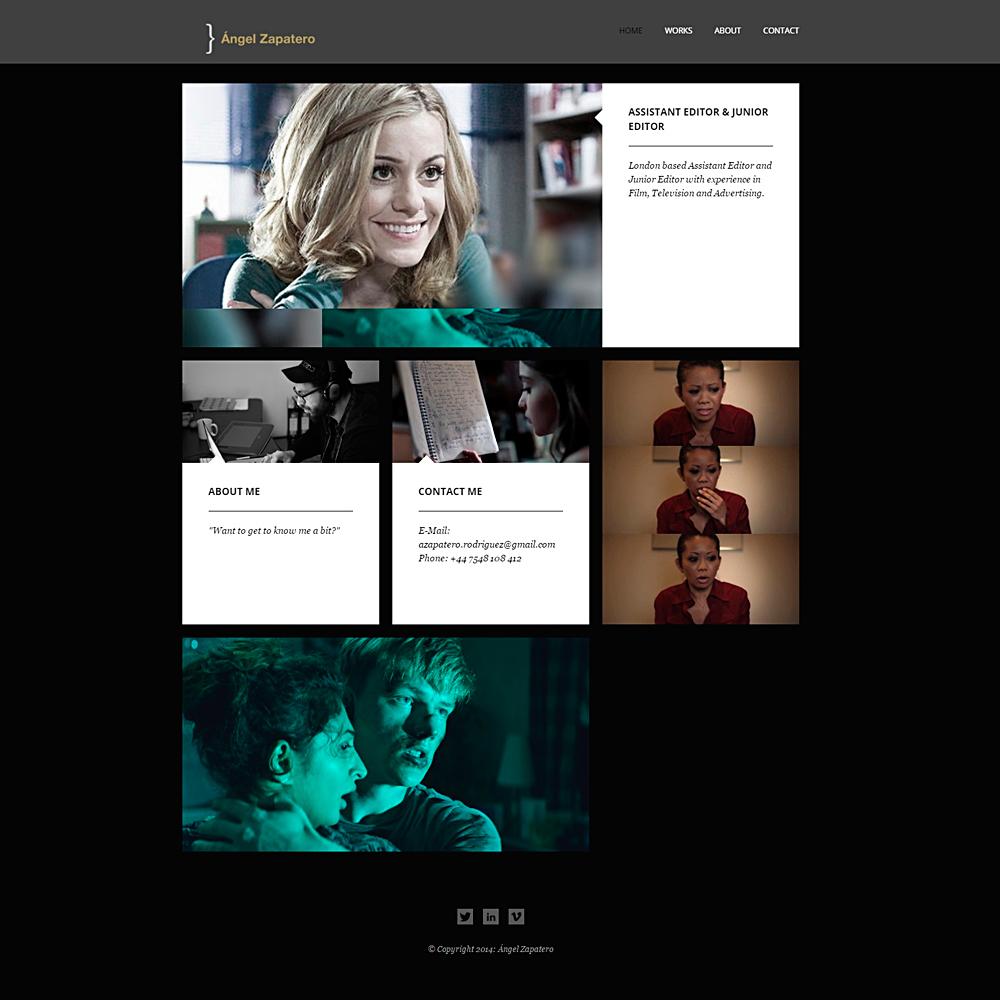 Desarrollo web para empresa de audiovisuales | Ángel Zapatero