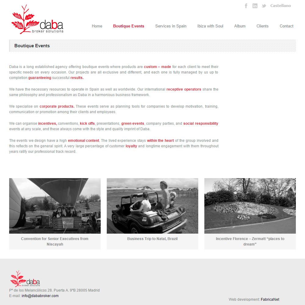 Diseño Web De Eventos | Daba Broker