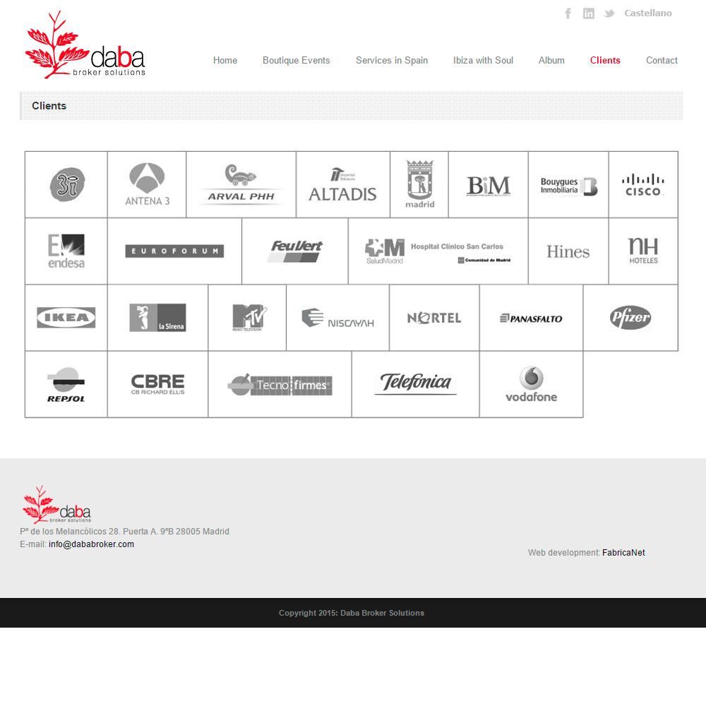 Diseño web de eventos | Daba Broker | FABRICANET 3