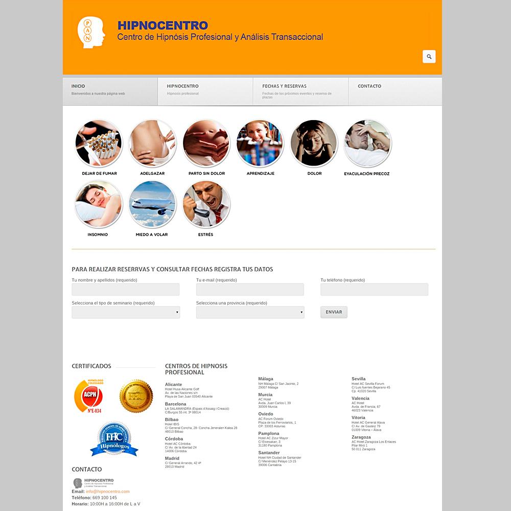 Realización de página web | HipnoCentro