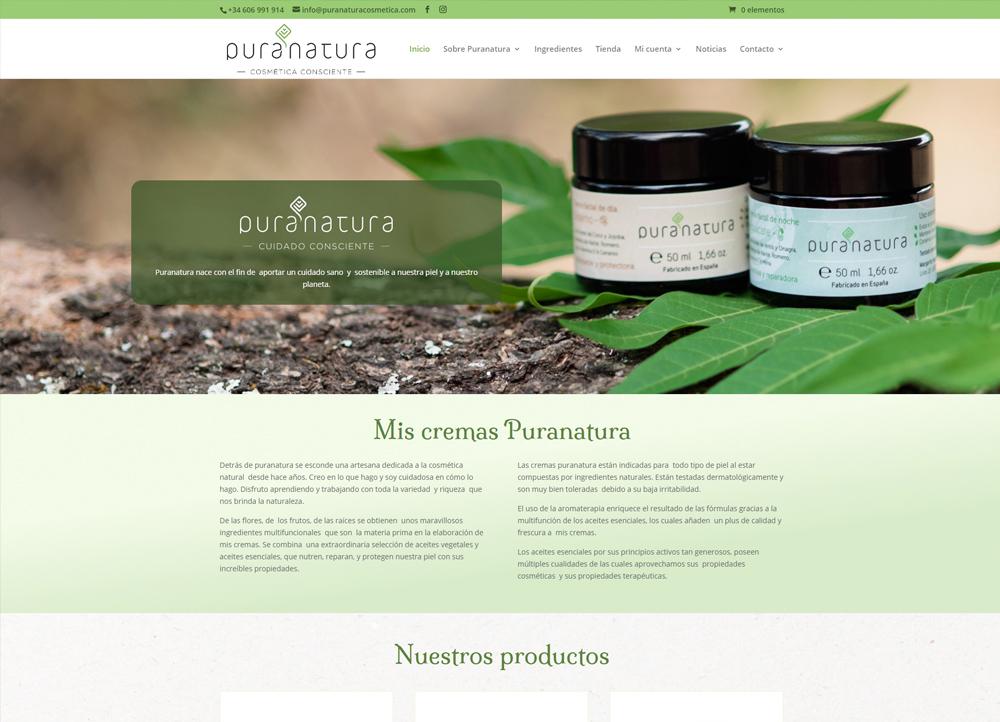 Puranatura, tienda online