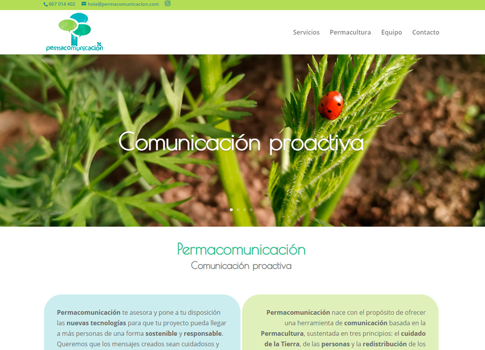 Permacomunicación, Páginas web y sostenibilidad